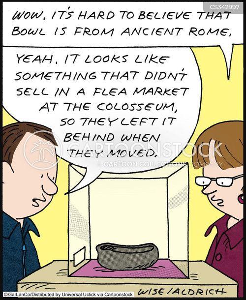 ancient artefacts cartoon