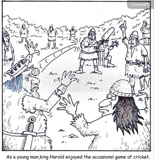 cricketing cartoon