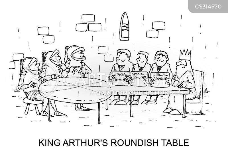King Arthuru0027s Round Table Cartoon 1 Of 1