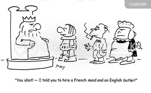 french maid cartoon