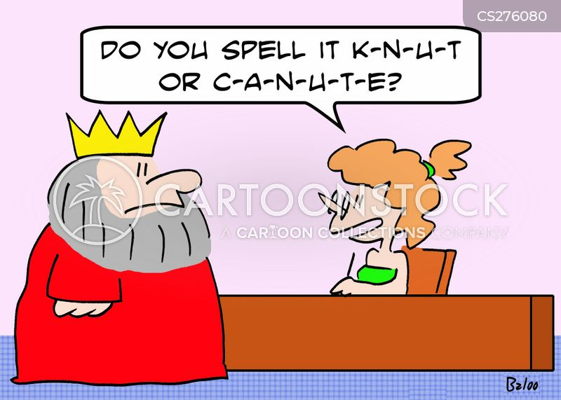 canute the great cartoon