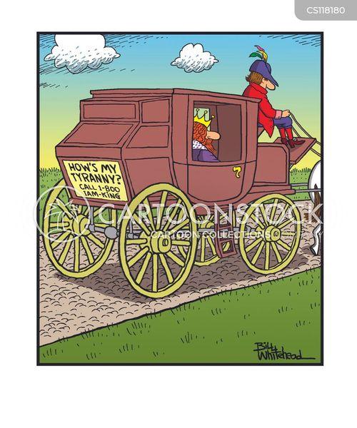 coach and horses cartoon