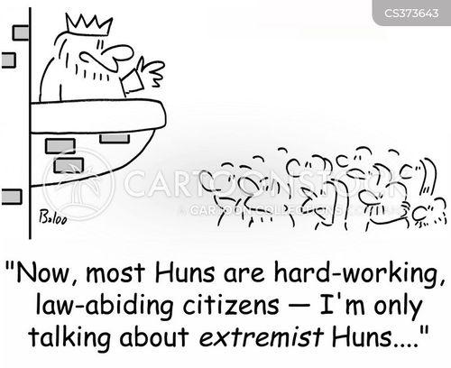 huns cartoon