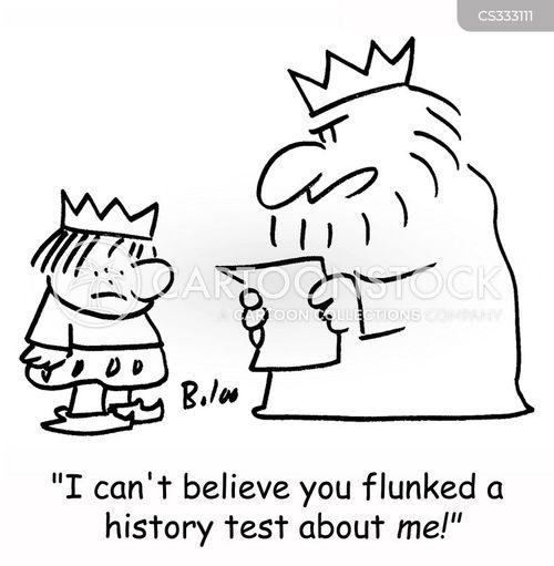 history test cartoon