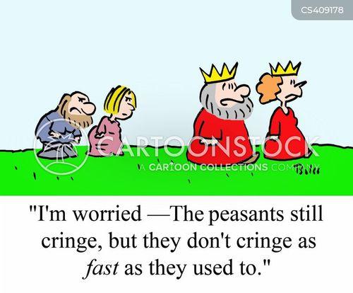 cringing cartoon