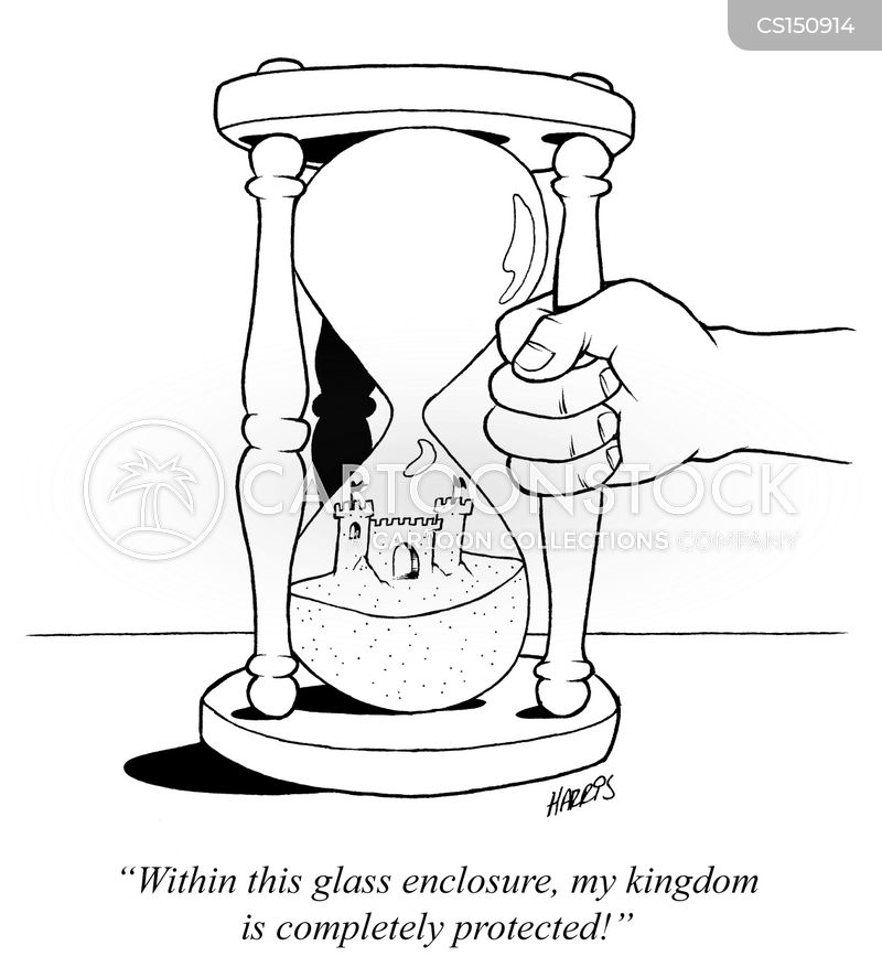 hour-glass cartoon