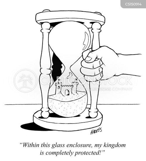 hour glasses cartoon