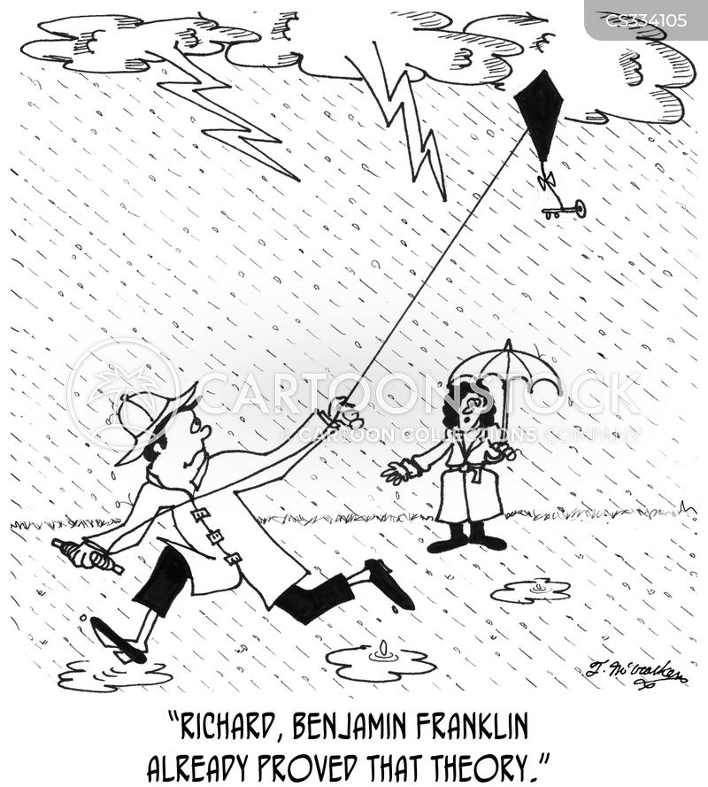 lightening storm cartoon