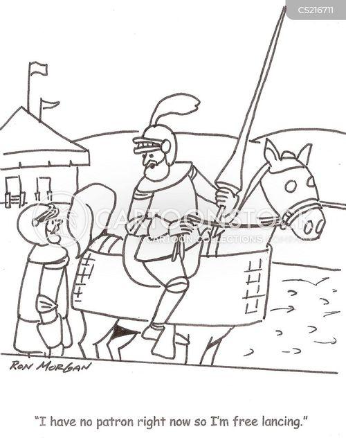 jouster cartoon