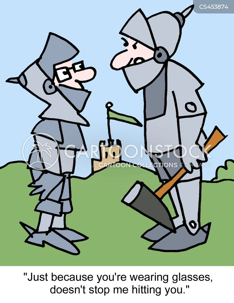 suits of armour cartoon
