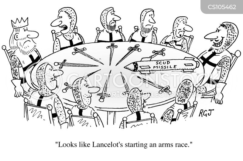 arms race cartoon