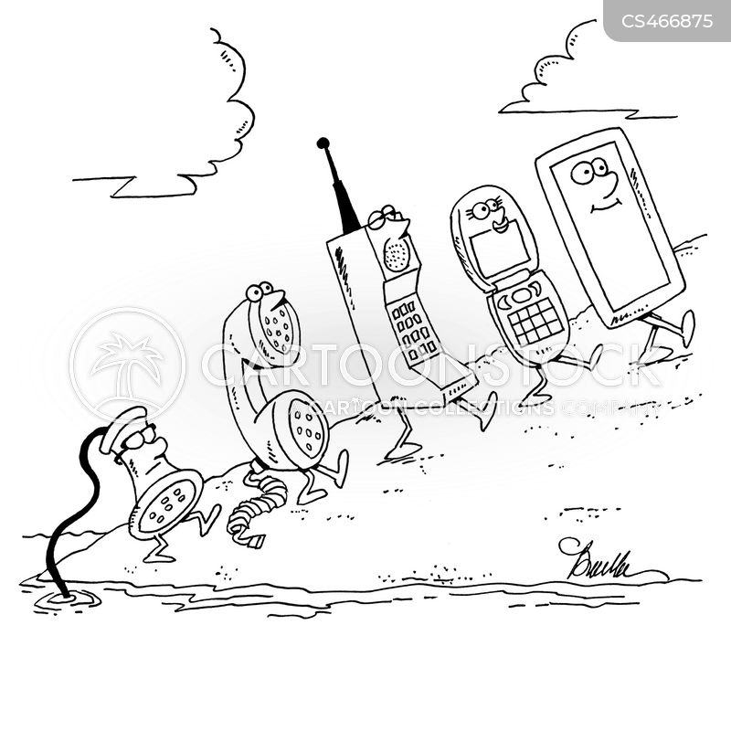 Rotary Phone Cartoons and Comics - funny pictures from