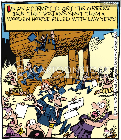 trojan cartoon