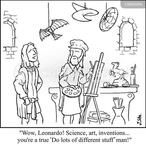 renaissance man cartoon