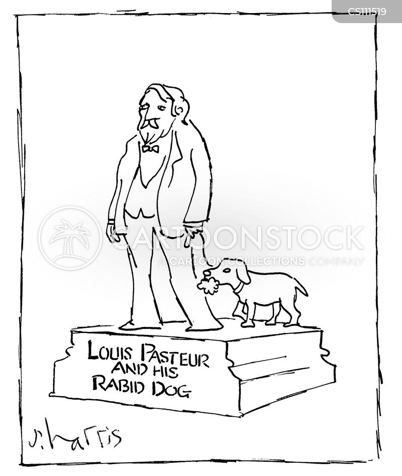 louis pasteur cartoon