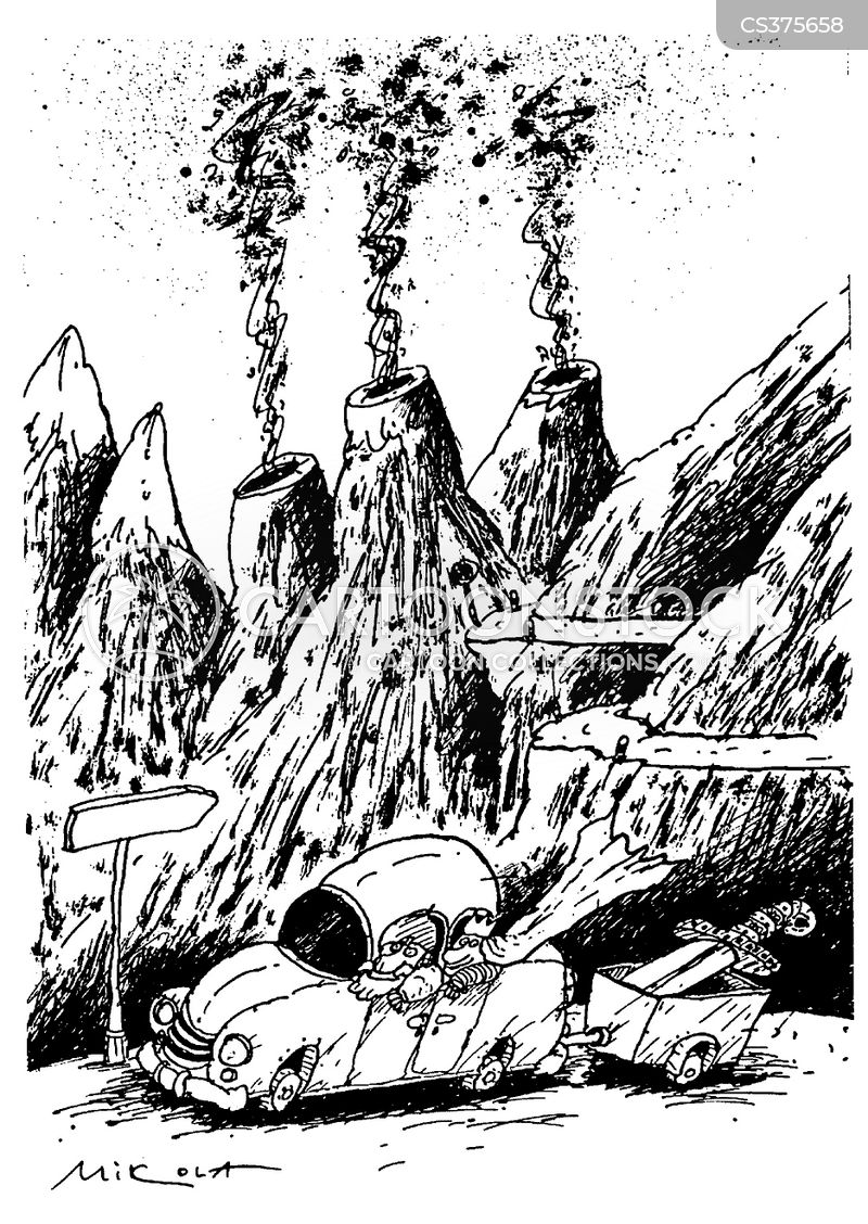 volcanos cartoon