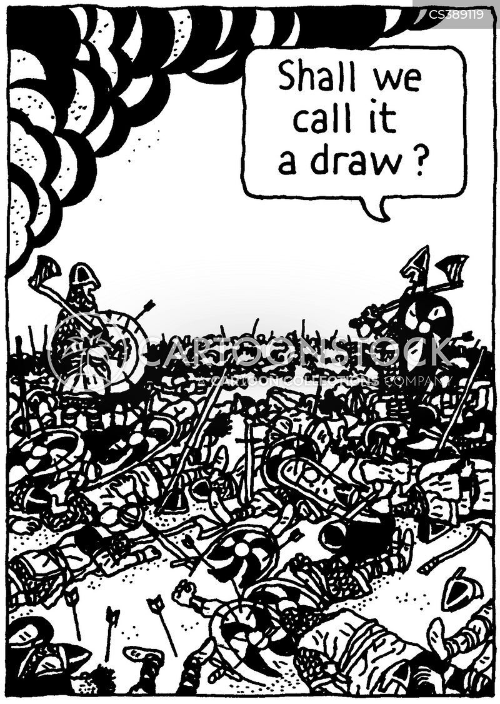 fighting a losing battle cartoon