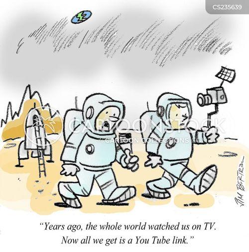 exploring space cartoon