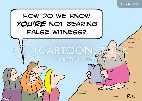 false witness cartoon