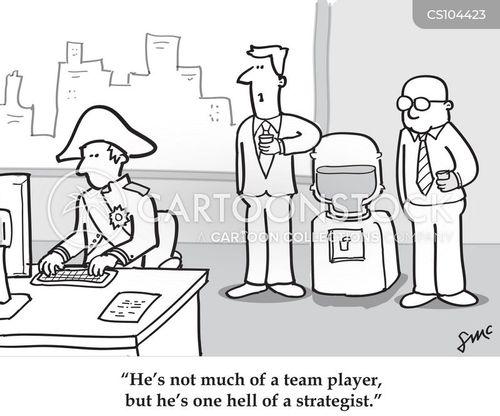 team members cartoon