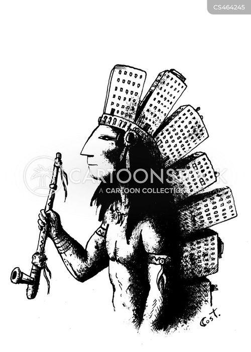 land treaties cartoon