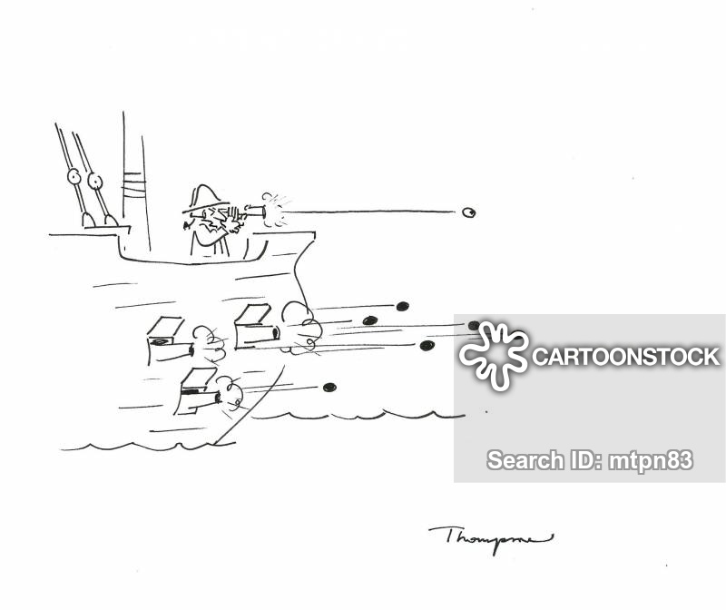 naval battles cartoon