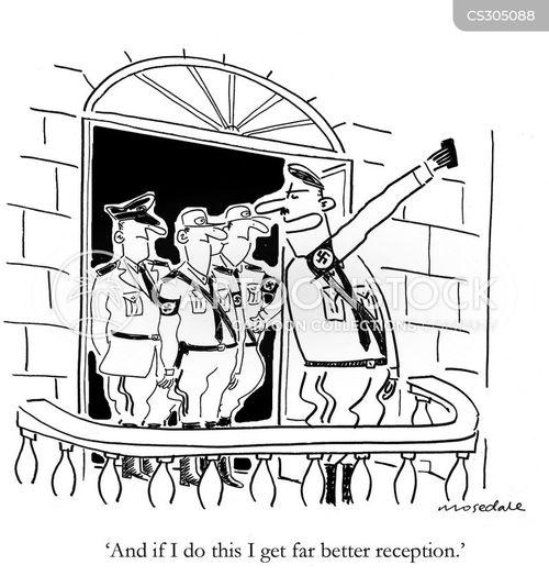 nazi salute cartoon