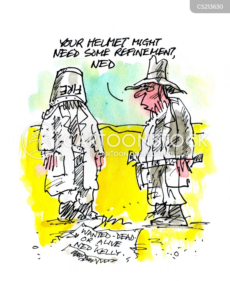 ned kelly cartoon