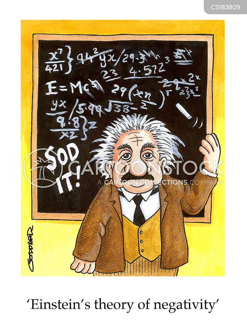 theory of relativity cartoon