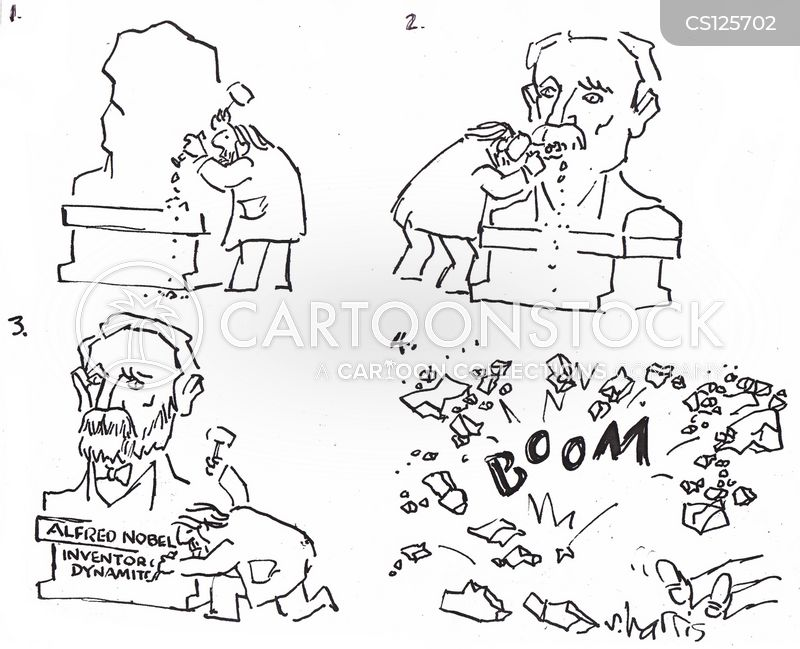 blowing up cartoon