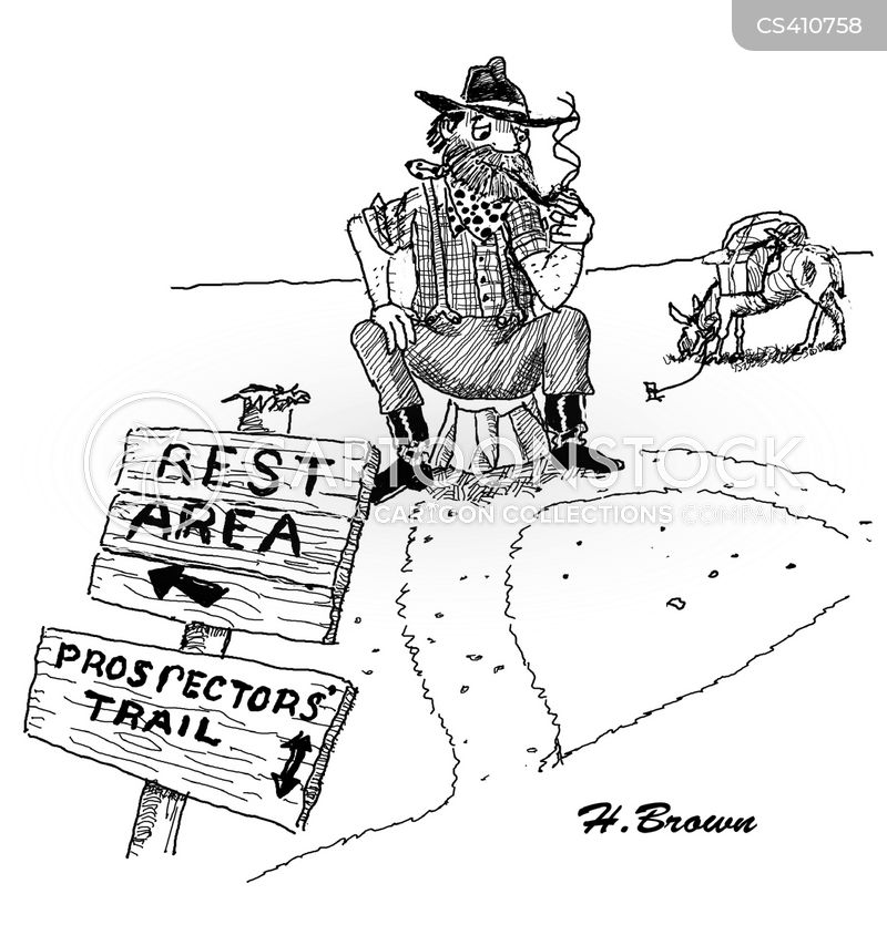 directional signs cartoon