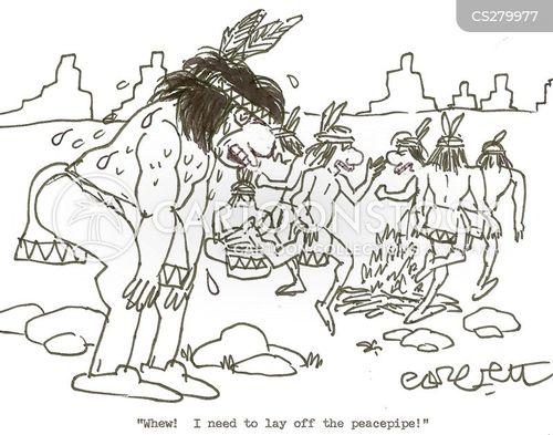 peacepipe cartoon