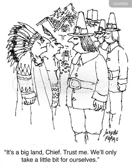 settler cartoon