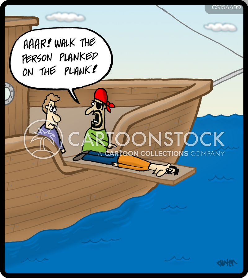 walking the plank cartoon