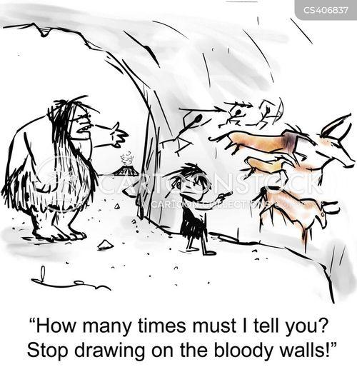Cave Art Cartoons Cave Art Cartoon Funny Cave Art Picture