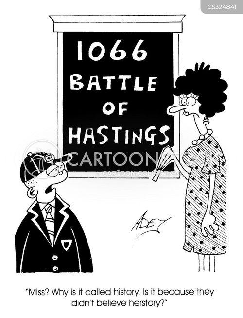 battle of hastings cartoon