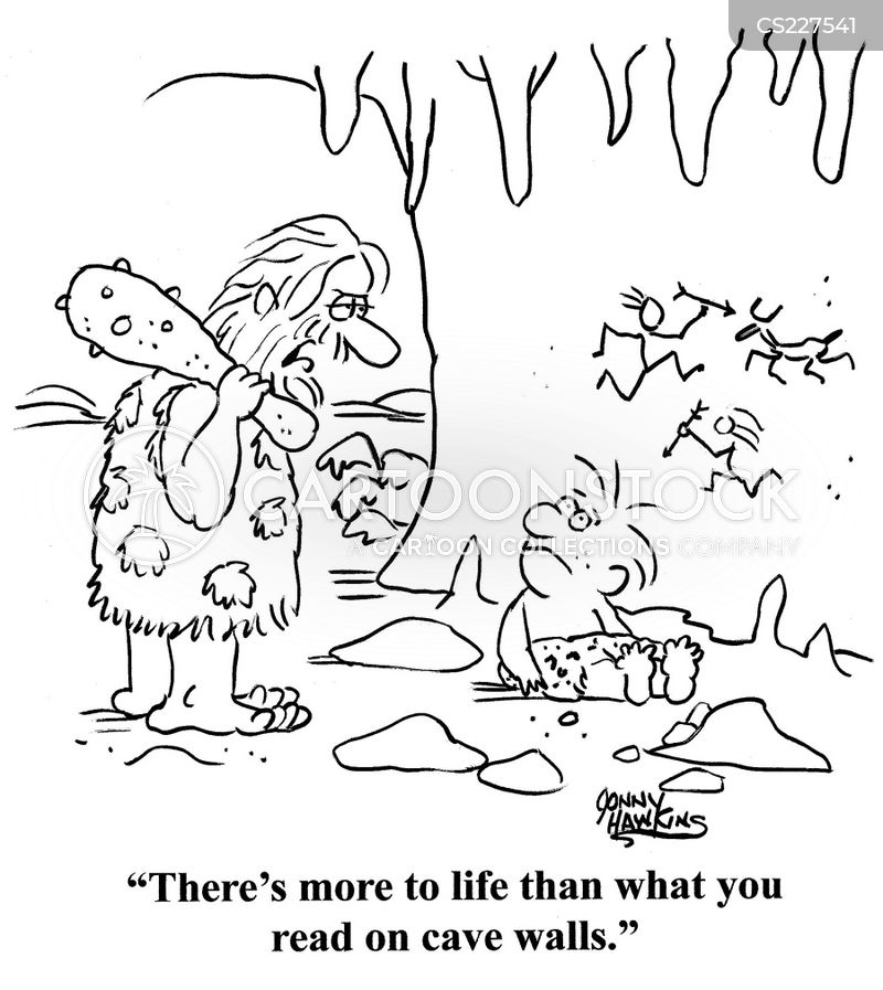 believing what you read cartoon