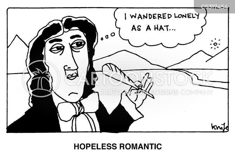 romantic poet cartoon