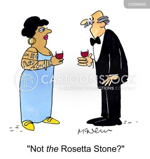 rosetta stone cartoon