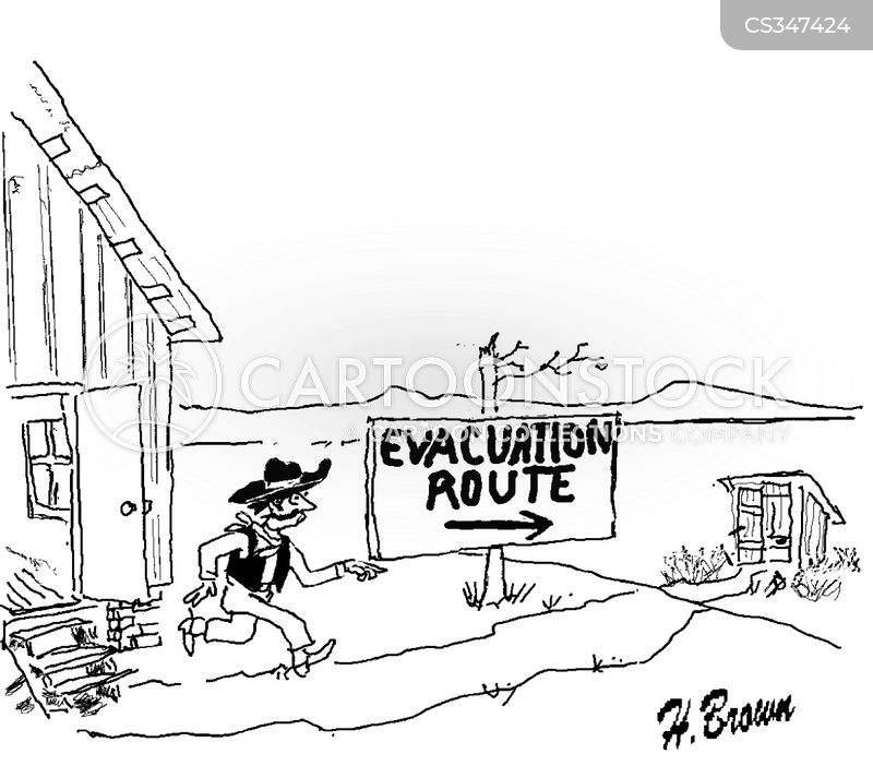 escape route cartoon