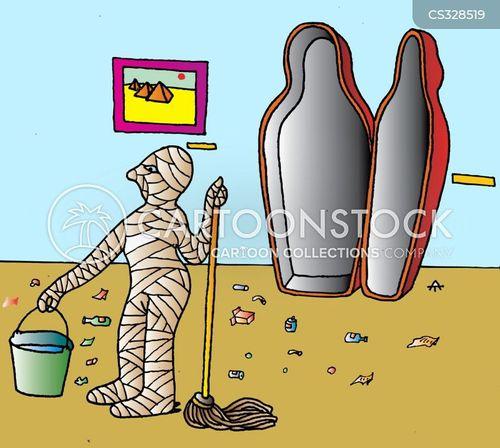 sarcophagus cartoon