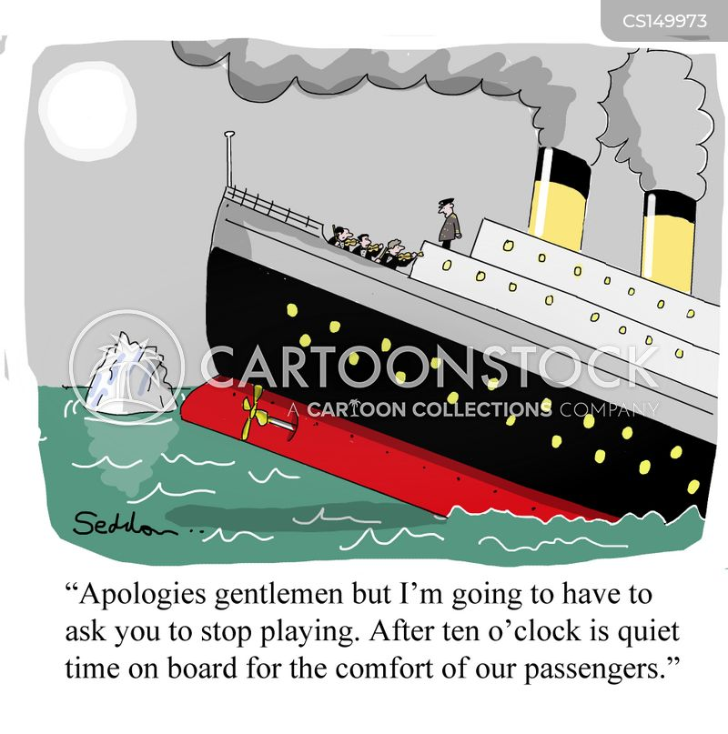 band on board cartoon