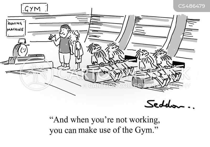 rowing machines cartoon