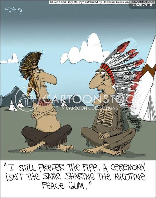 smoking a pipe cartoon