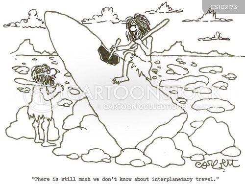 interplanetary travel cartoon