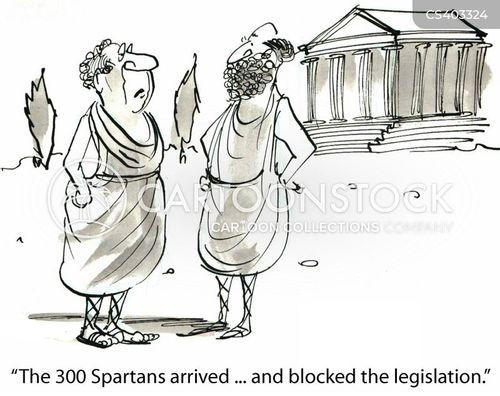 spartan cartoon