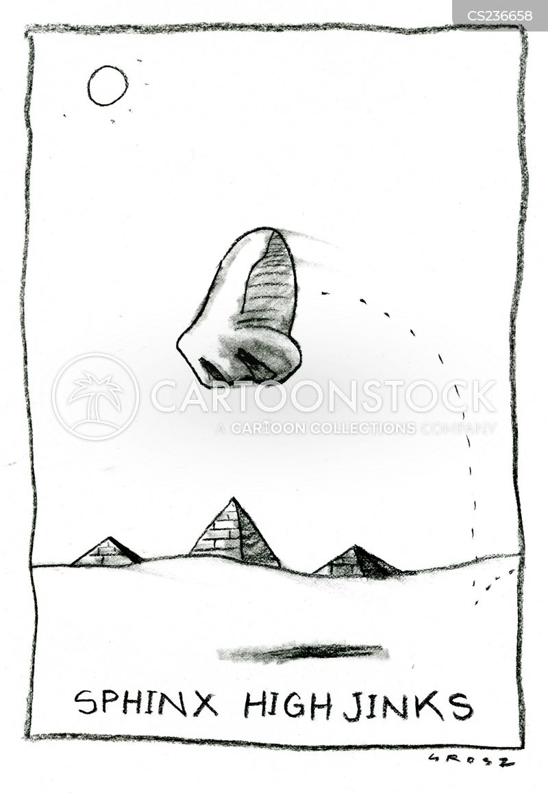 giza sphinx cartoon