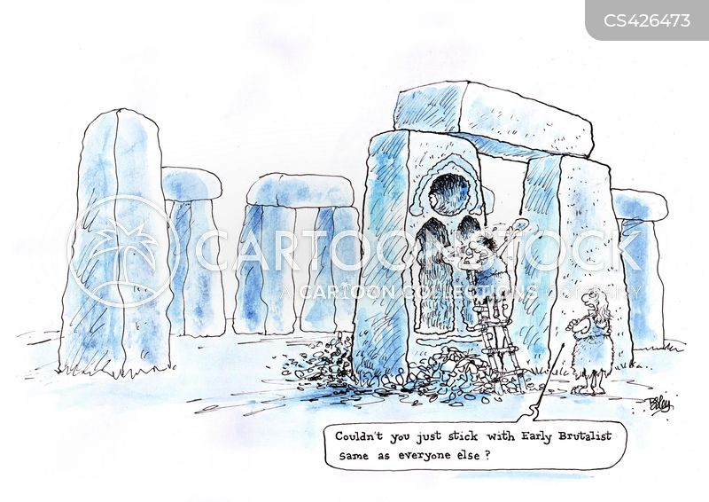 architectural style cartoon