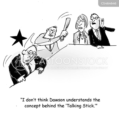 speakers staffs cartoon