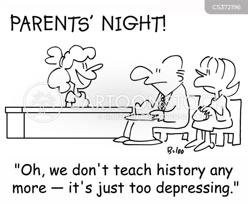 teacher parent conference cartoon